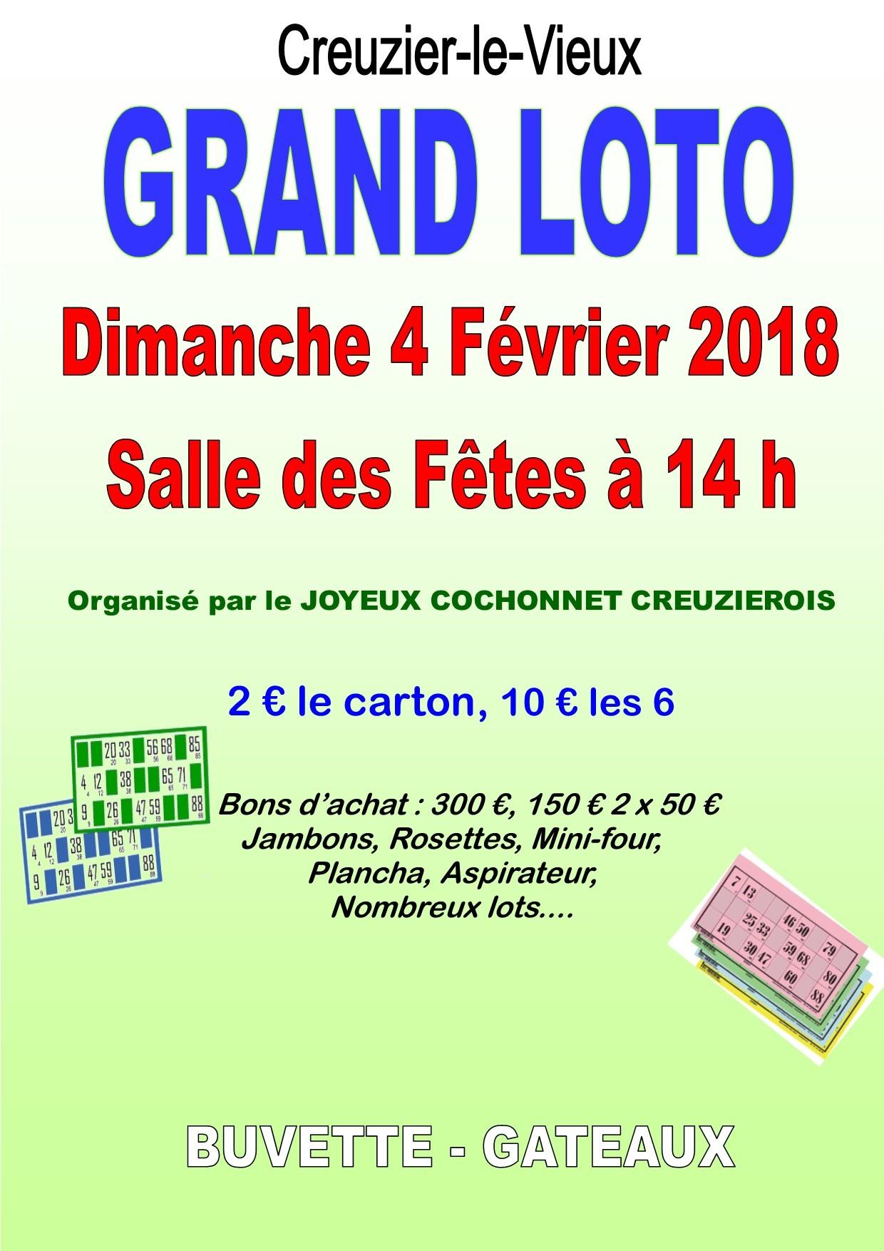 loto 2018 - joyeux cochonnet