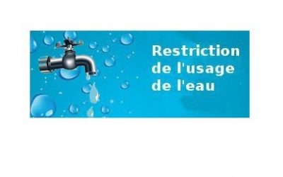 Restriction d'usage de l'eau