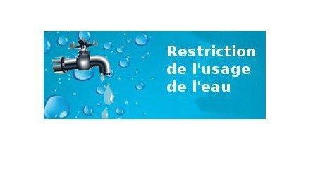 Restriction d'usage de l'eau