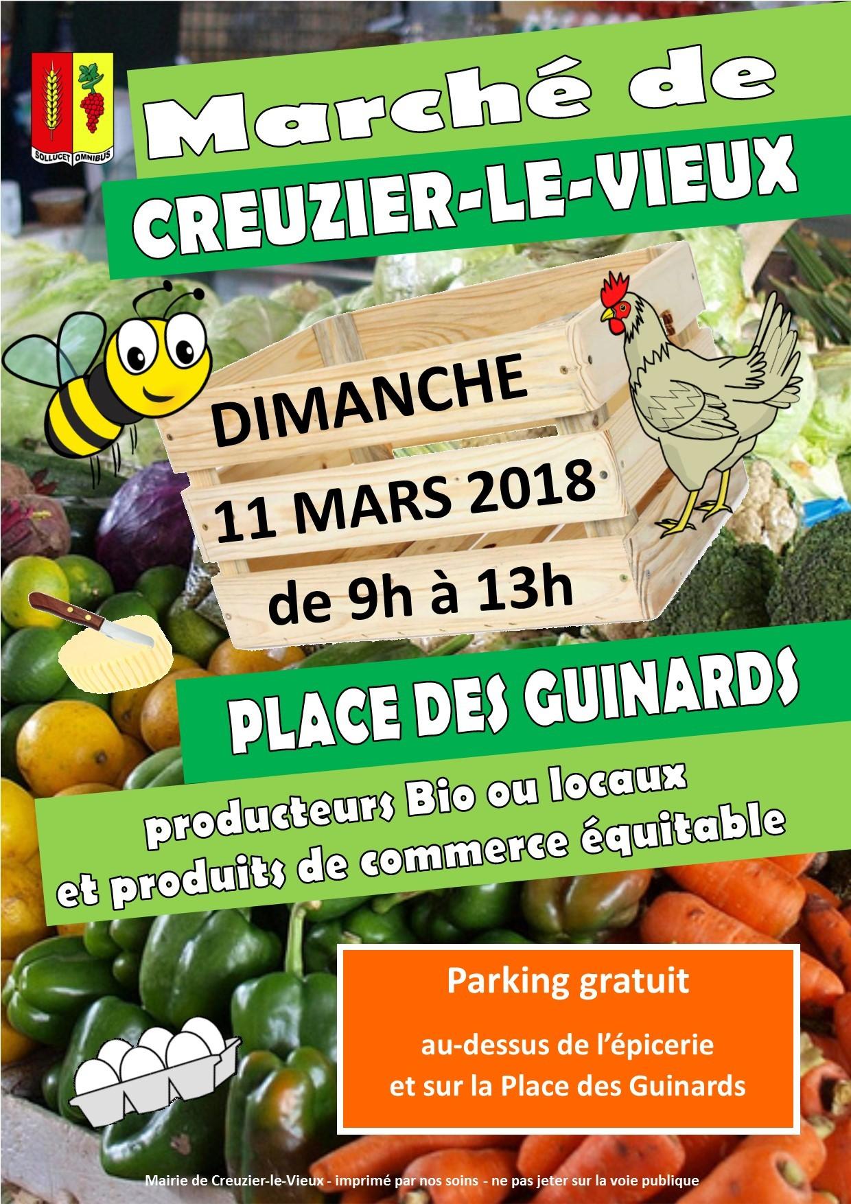 11 mars 2018 - marché
