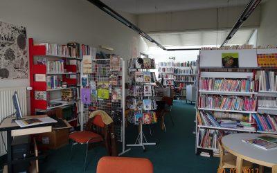Bibliothèque fermée en avril