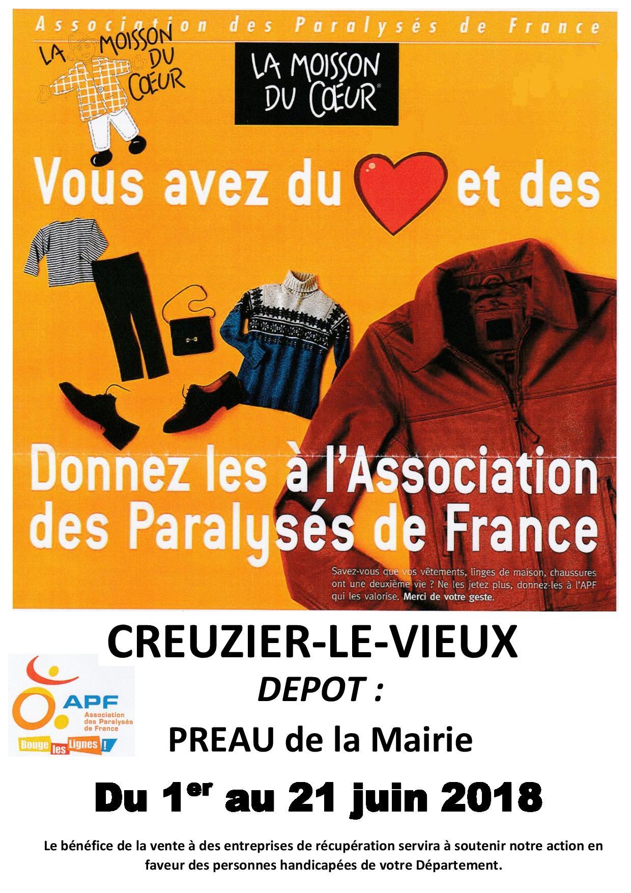 textile 2018 - paralysés de France Dépôt