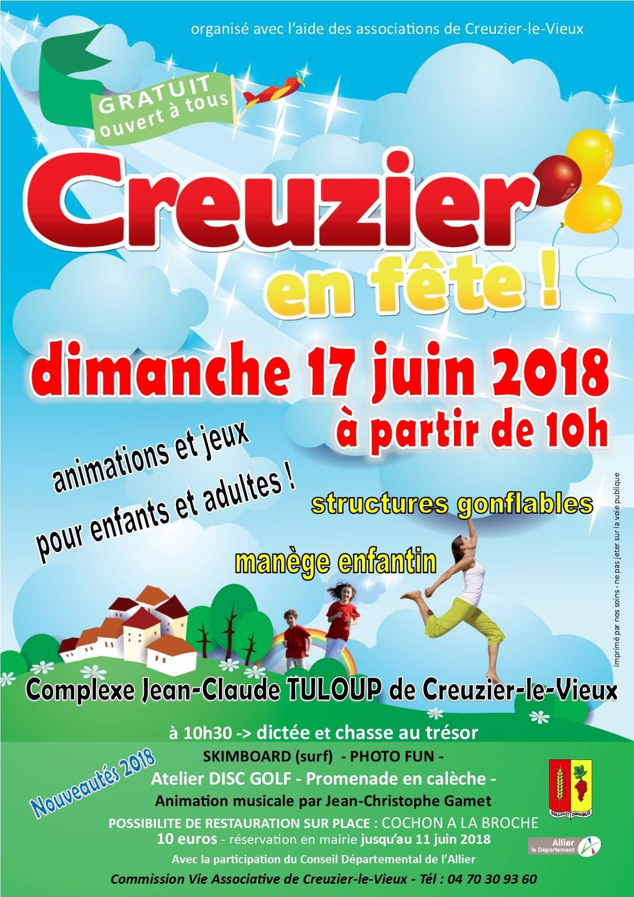 CREUZIER EN FETE - 17 juin 2018