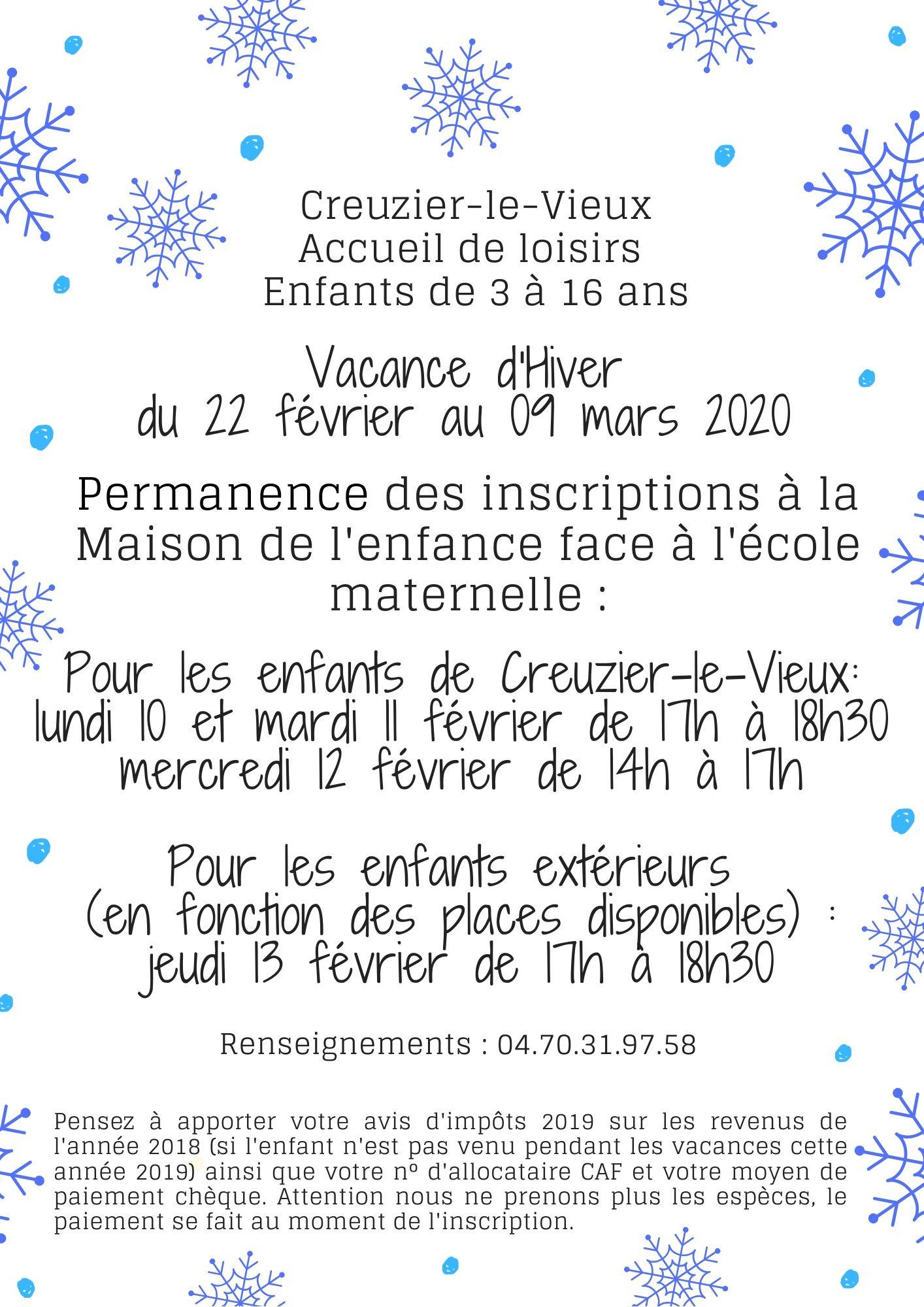 Vacances d'hivers (1)