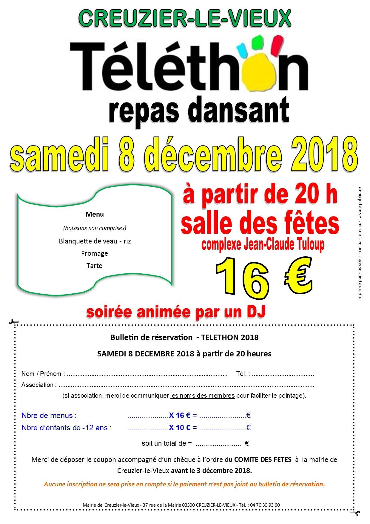 bulletin de reservation - 2018