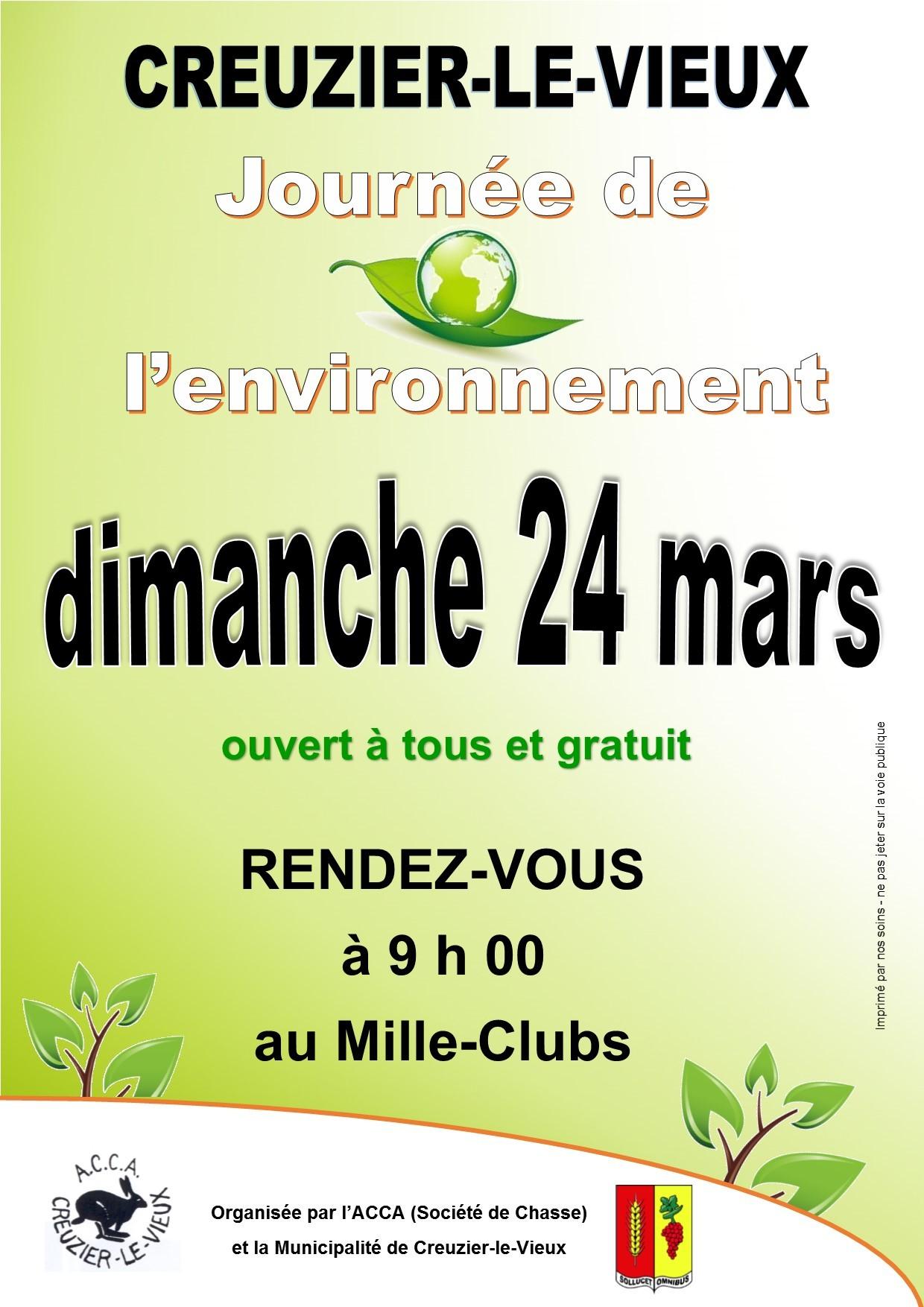 AFFICHE journee environnement - mars 2019