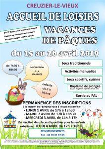 vacances d'Avril 2019