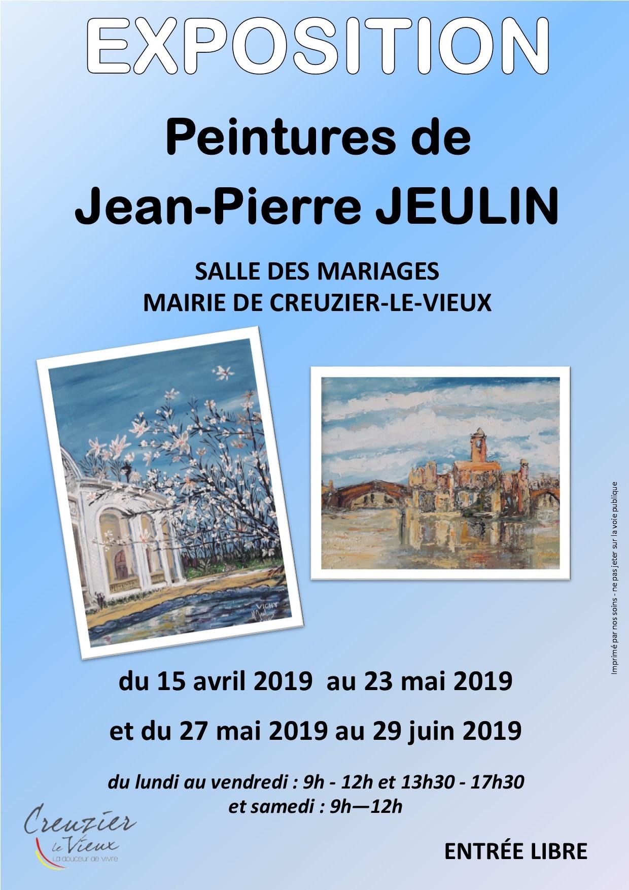 exposition de peintures JP Jeulin