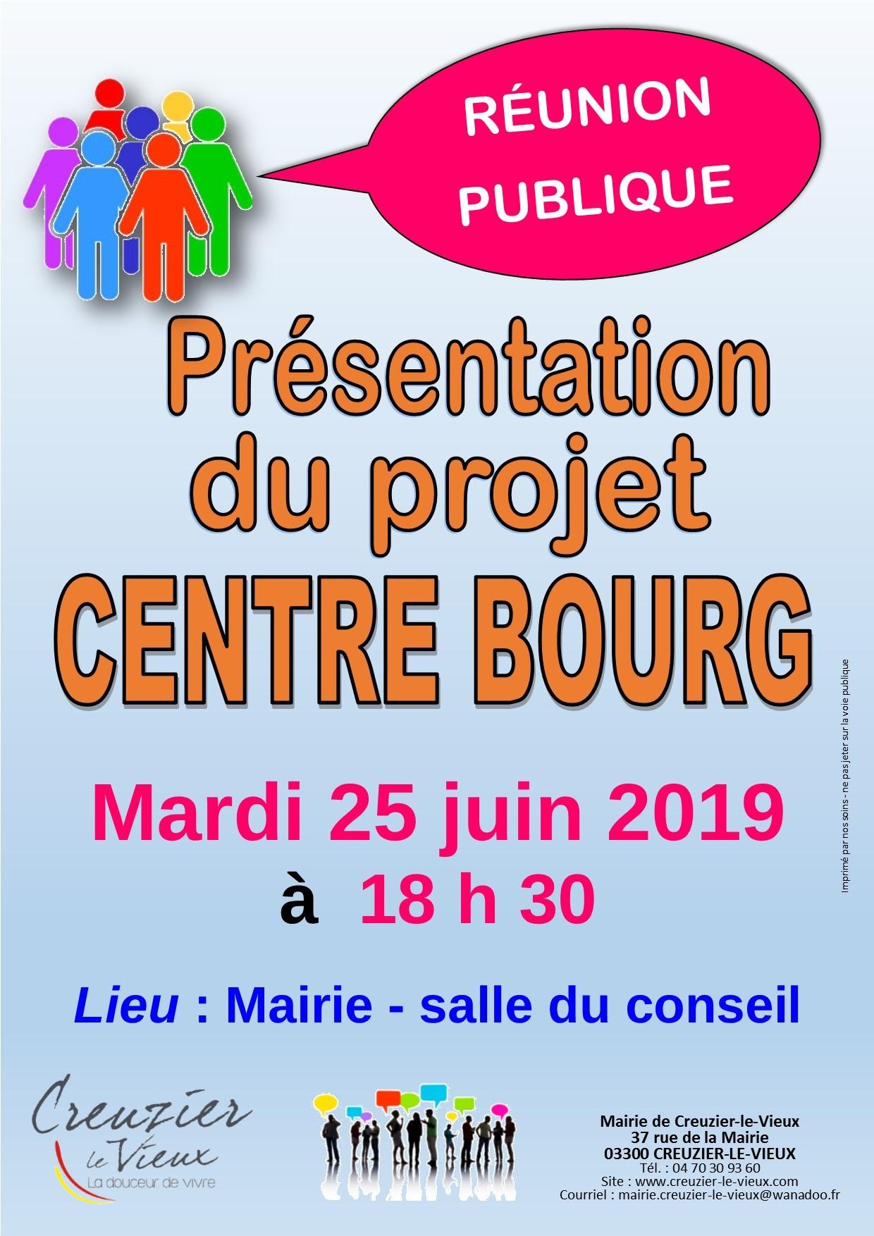 réunion publique - centre bourg