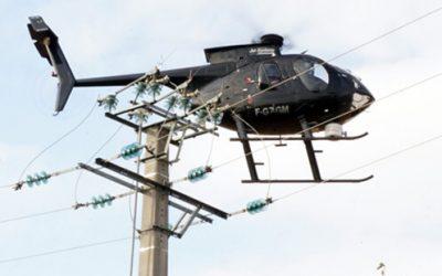 Survol de la commune en Hélicoptère