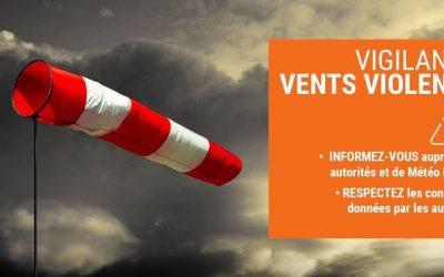 Alerte météo vent violent