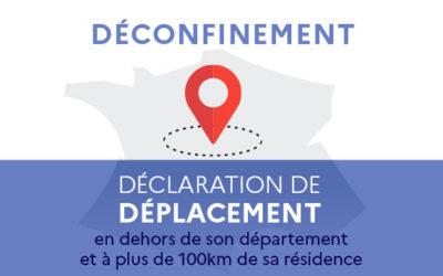 Déclaration de déplacement