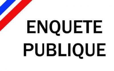 Avis au public ENQUETE PUBLIQUE