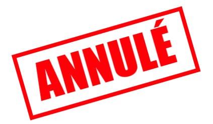 Manifestations annulées