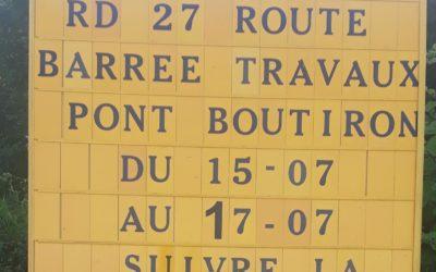 Travaux Pont Boutiron et feux tricolores