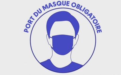 Port du masque obligatoire dans le périmètre des écoles et la maison de l'enfance