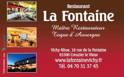 Restaurant La Fontaine retour des plats à emporter