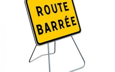 Travaux route barrée