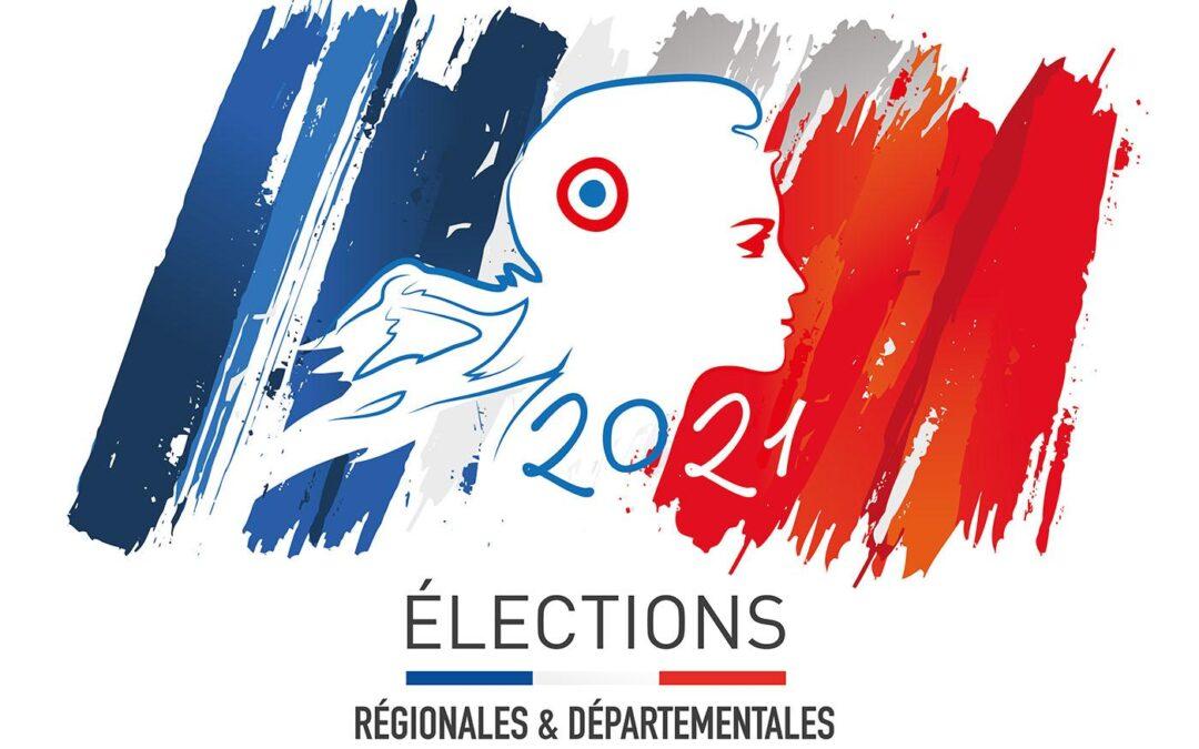 ELECTIONS- départementales et régionales des 20 et 27 juin 2021
